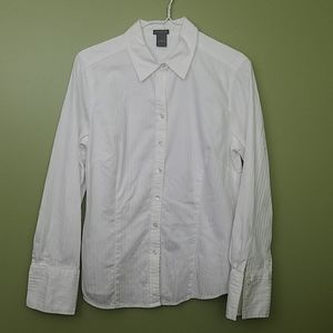 Ann Taylor Structured Button Down Top Size 10